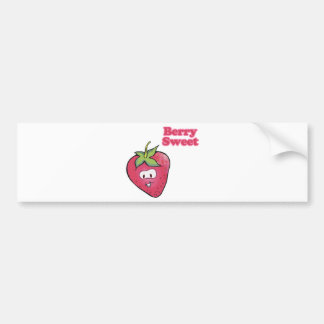 berry sweet cute strawberry bumper stickers