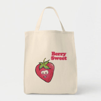 berry sweet cute strawberry tote bag