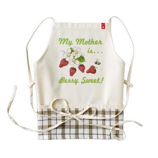 Berry Sweet Mother Zazzle HEART Apron