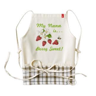 Berry Sweet Nana Zazzle HEART Apron