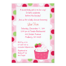 Berry Sweet Strawberry Baby Shower Invitations