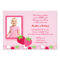 Berry Sweet Strawberry Birthday Invitations