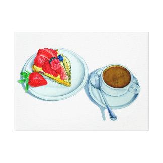 Berry Tart and Espresso Canvas Print