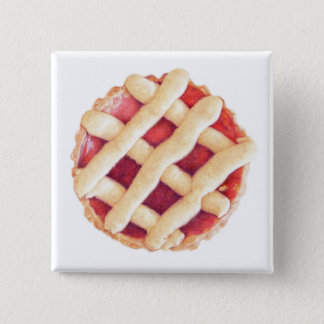Berry Tart Square Button