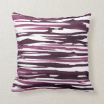 Berry Watercolor Abstract Stripes Pillow