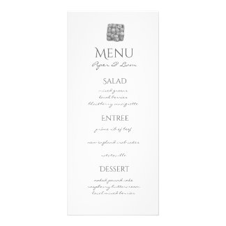 Berry Wedding Menu