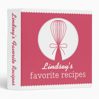 Berry Whisk Silhouette Recipe Binder