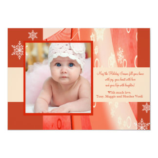 Berry Winter Holiday Photo Card