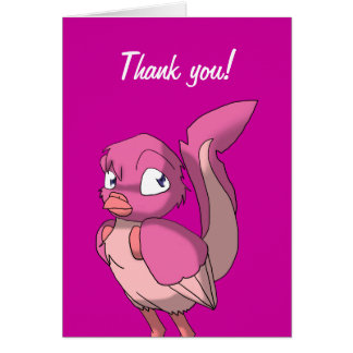 Berry Yogurt Reptilian Bird Greeting Card 1