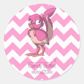 Berry Yogurt Reptilian Bird Party Favor Classic Round Sticker