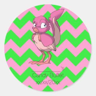 Berry Yogurt Reptilian Bird Party Favor Sticker 2