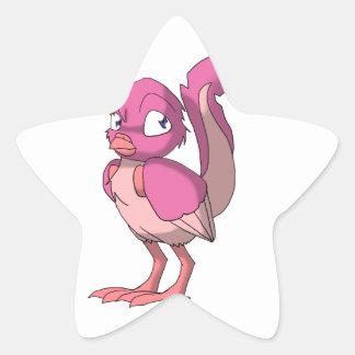 Berry Yogurt Reptilian Bird Star Sticker