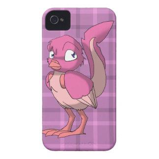 Berry Yogurt Reptilian Bird w/ Pink Tartan Back iPhone 4 Covers