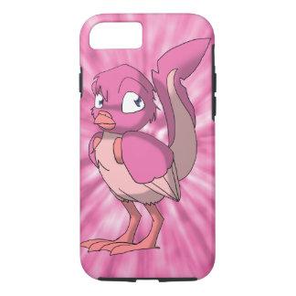 Berry Yogurt Reptilian Bird w/ Pink Tie-Dye Back iPhone 7 Case