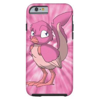 Berry Yogurt Reptilian Bird w/ Pink Tie-Dye Back Tough iPhone 6 Case