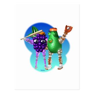 BerryBot & AvocadoBot FUDEBOTS by Valxart Postcard