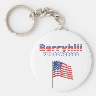 Berryhill for Congress Patriotic American Flag Des Basic Round Button Keychain