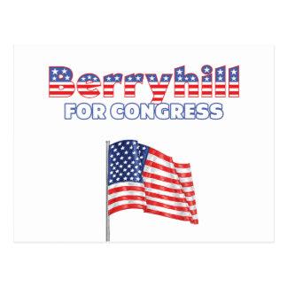 Berryhill for Congress Patriotic American Flag Des Postcard