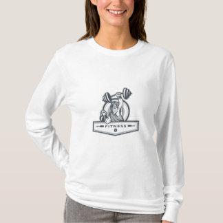 Berserker Lifting Barbell Kettlebell Fitness Circl T-Shirt