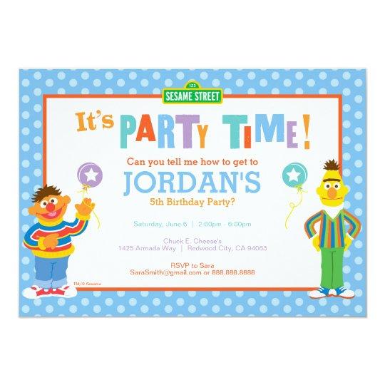 Bert And Ernie Birthday Card