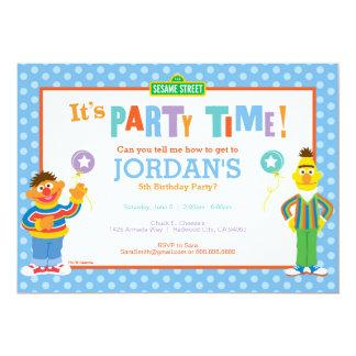 Bert and Ernie Birthday 5x7 Paper Invitation Card