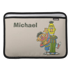 Bert And Ernie Classic Style   Add Your Name Sleeve For Macbook Air at Zazzle