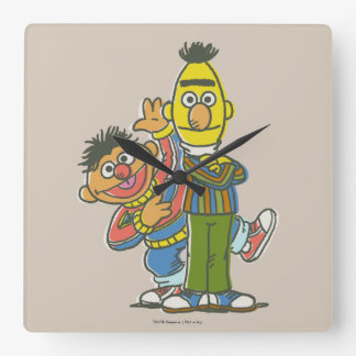 Bert and Ernie Classic Style Square Wall Clocks