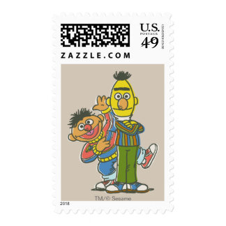 Bert and Ernie Classic Style Postage Stamps