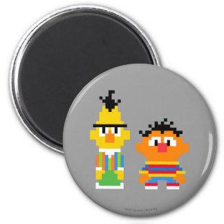 Bert and Ernie Pixel Art 2 Inch Round Magnet