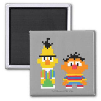 Bert and Ernie Pixel Art 2 Inch Square Magnet
