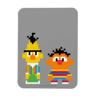 Bert and Ernie Pixel Art Rectangular Photo Magnet