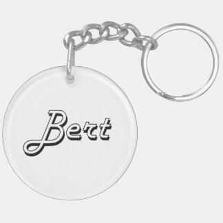 Bert Classic Retro Name Design Double-Sided Round Acrylic Keychain