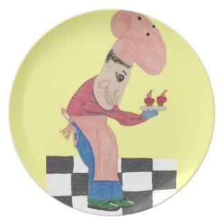 Bert cuece los bollos del salvado del arándano platos para fiestas