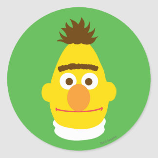 Bert Face Classic Round Sticker