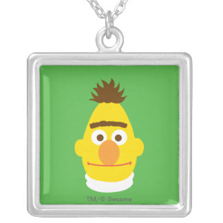 Bert Face Silver Plated Necklace