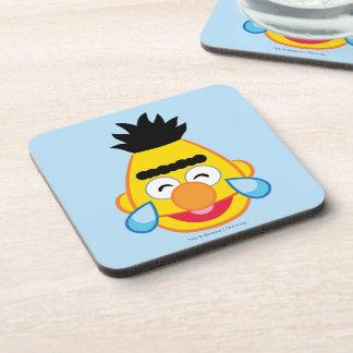 Bert Face with Tears of Joy Beverage Coaster