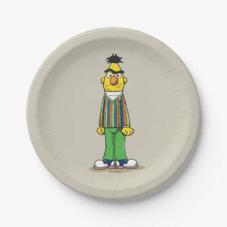 Bert frustrado plato de papel de 7 pulgadas