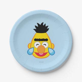 Bert hace frente con los rasgones de la alegría plato de papel de 7 pulgadas