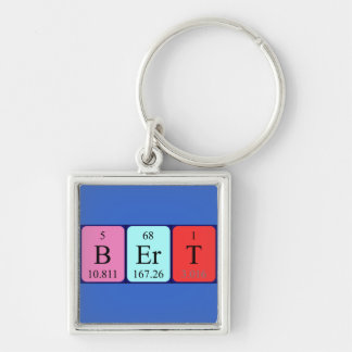 Bert periodic table name keyring keychains