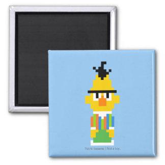 Bert Pixel Art 2 Inch Square Magnet