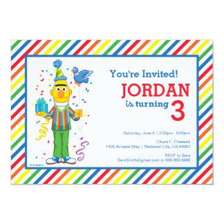 "Bert rayó cumpleaños invitación 5"" x 7"""