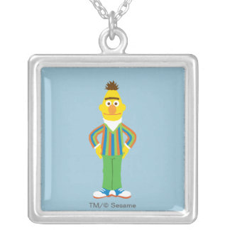 Bert Standing Silver Plated Necklace
