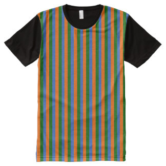 bert striped All-Over-Print T-Shirt