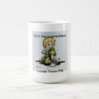 Bert the Leprechaun  loves Team-FM Coffee Mug