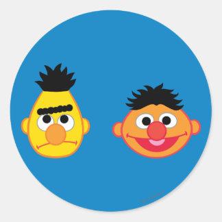 Bert y Ernie Emojis Pegatina Redonda