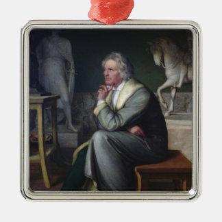 Bertel Thorvaldsen en su estudio en Roma, 1834 Adorno Navideño Cuadrado De Metal
