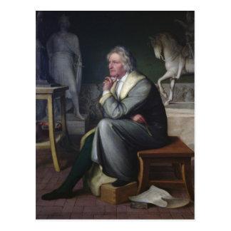 Bertel Thorvaldsen in his studio at Rome, 1834 Postcard