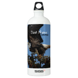 BERTF Bald Eagle Ready to Flee Aluminum Water Bottle