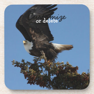 BERTF Bald Eagle Ready to Flee Beverage Coaster