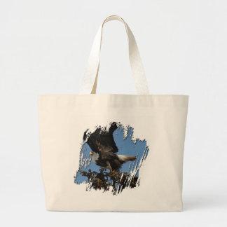 BERTF Bald Eagle Ready to Flee Large Tote Bag